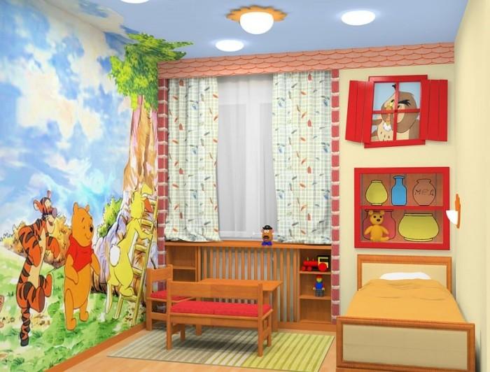 Детская без окна дизайн фото