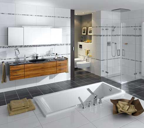 Ванная комната дизайн черно белая