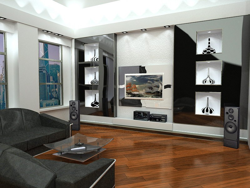 Идеи дизайна гостиной с кухней
